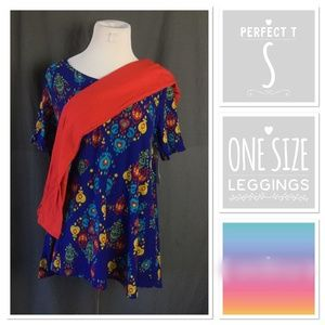 NWT LuLaRoe outfit, solid leggings and Perfect T